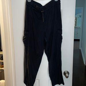 Lululemon black silky cargo pants